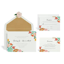 Multi Floral Wedding Invitation Kit By Celebrate It