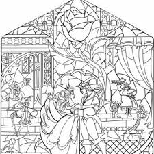 39 Beauty And The Beast Glass Coloring