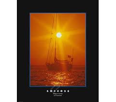 Success Sailing Inspirational College Dorm Poster