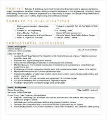 sle resume for civil site engineer civil engineer