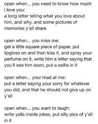 Open when letters Ideas•• Pinterest