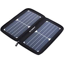 ECEEN Solar Panel 10Watts Solar Charger with Unique Zipper Pack