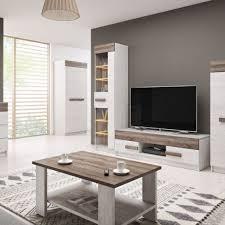 Tv Unit Coffee Table Sideboard White Walnut In M350BN