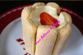dessert avec des boudoirs aux fraises et boudoirs brossard aux gourmandises de steph