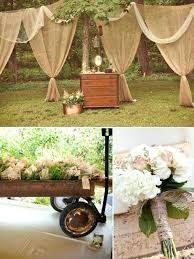 Cheap Wedding Decor Excellent Rustic Decorations In Table With