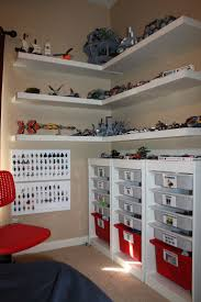 Clays Lego Corner Creation Station Made Using Ikea Shelves And Drawers I Laminated Labels