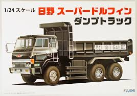 100 Plastic Truck Model Kits Hino Super Dolphin Dump Kit Plaza Japan