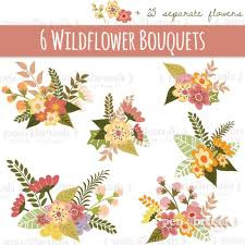 Clipart Flower Clip Art Library Designloverstudio Design Products Thehungryjpegcom Rustic Wedding Flowers