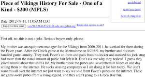 100 Craigslist Minneapolis Cars And Trucks By Owner Brett Favres Purported Pubes Are For Sale On For 200