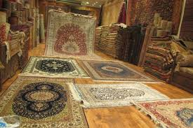 A Selection Of Rugs At Store In Istanbul Turkey