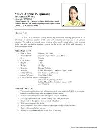 Resume For Staff Nurse Sample Example