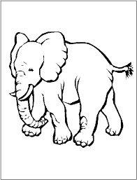 Free Asian Elephant Coloring Picture