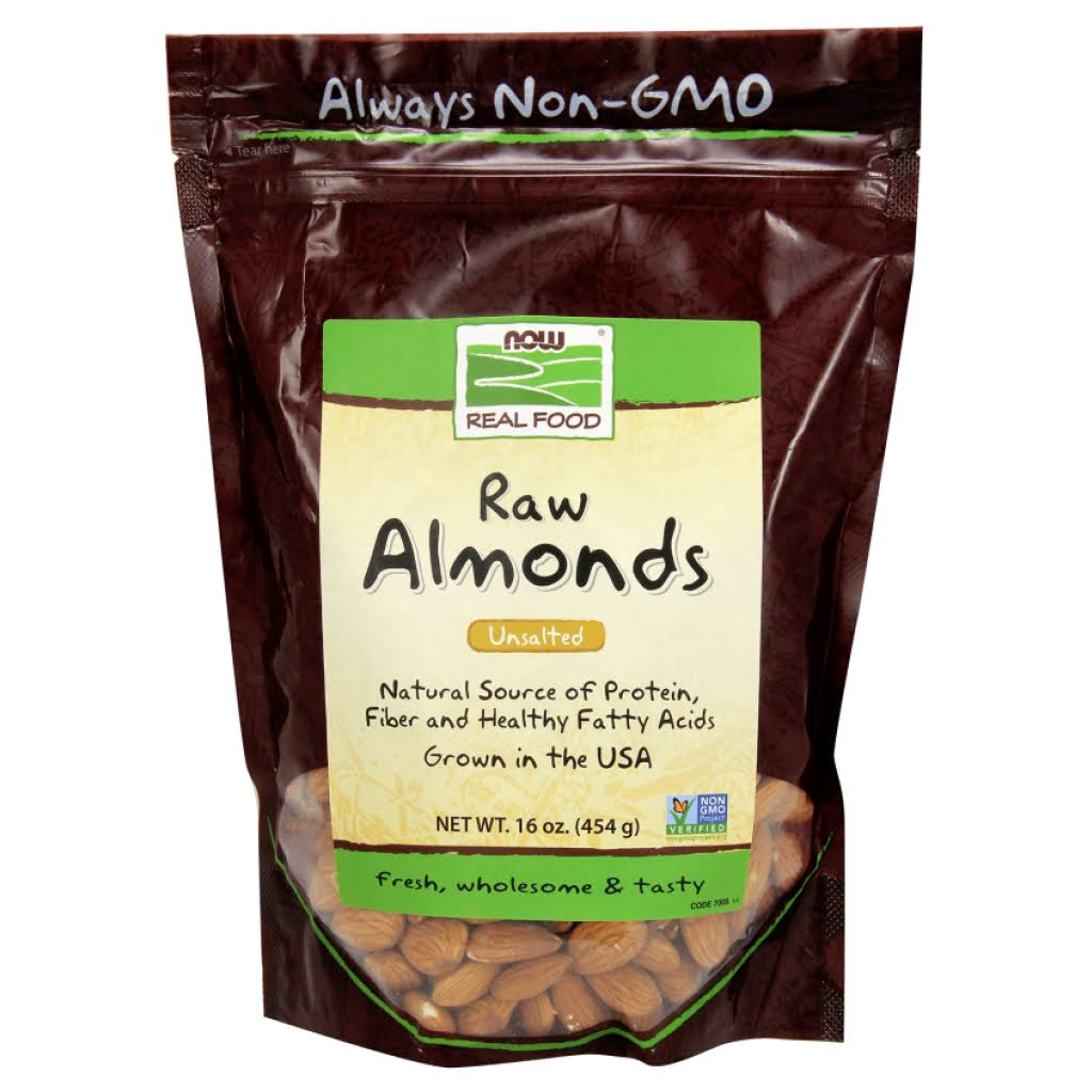 Now Foods Real Food Natural Unblanched Almonds - 16oz