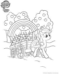 MY LITTE PONY AppleJack Colouring Page Download