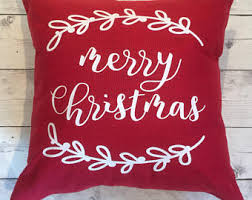 Merry Christmas pillow cover 18x18 christmas decor