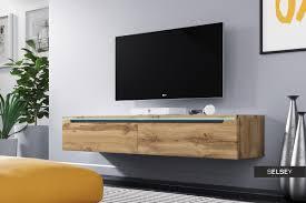 fernsehschrank tv lowboard in weiß hochglanz mit led