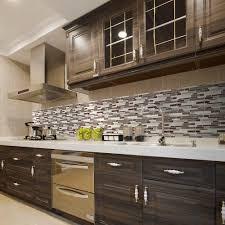 Jeffrey Court Mosaic Tile by Elegant Jeffrey Court Mountain Kitchen With Brown Gray Glass Peel