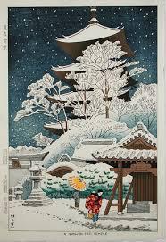 Fujishima Takeji A Snow In Toji Temple