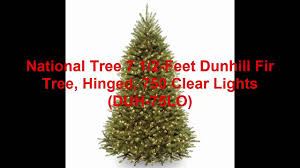 Ge 75 Ft Christmas Trees by National Tree 7 1 2 Feet Dunhill Fir Tree Hinged 750 Clear