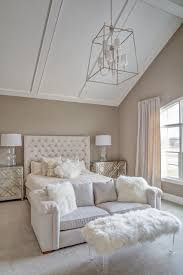 Vaulted Ceiling Master Bedroom Transitional