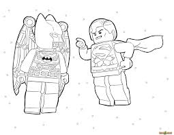 LEGO Superman And Batman In Space Coloring Page Printable Sheet