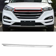 1Pc Front ABS Chrome Grille Decoration Car Accessories For Hyundai