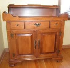 Ethan Allen Dry Sink by Tell City Hard Rock Maple Drysink Cabinet Andover Stain Piesafe