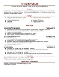 Hvac Resume Templates Pinterest