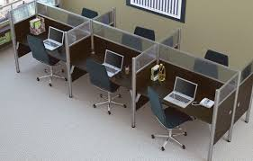Realspace Broadstreet Contoured U Shaped Desk by Picture Of Peblo 4 U0027 X 4 U0027 6 Person Pod Cubicle Desk Workstation