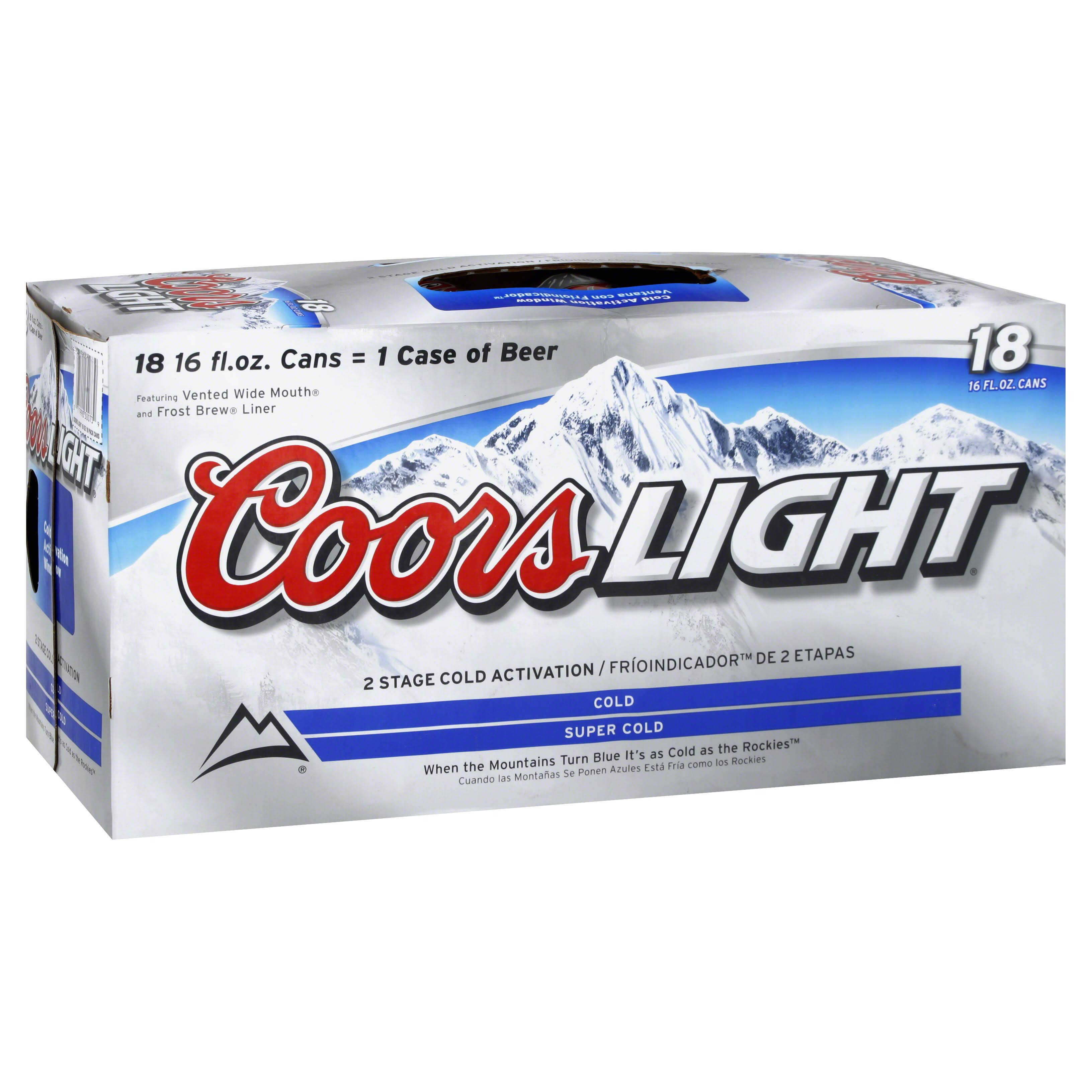 Coors Brewing Company Coors Light Beer - 12oz, 18pk