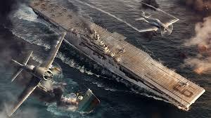 fonds d ecran 2048x1152 world of warship porte avions guerre uss
