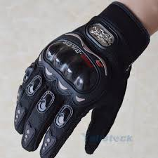 carbon fiber bike motorcycle motorbike riding protective gloves