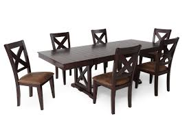 Value City Furniture Kitchen Table Chairs by Winners Only Java Seven Piece Dining Set Mathis Brothers Furniture