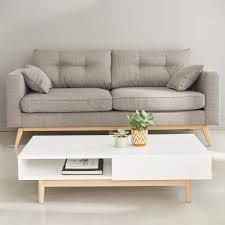 maisons du monde canapé canapé scandinave 3 places en tissu gris clair canapé