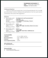 Resume Headline Examples For Mba Fresher Combined With Samples A