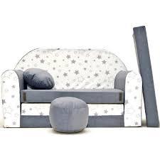 canape enfant canapé lit enfant convertible gris blanc et étoiles gris gris