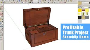 woodworking income project sketchup demo youtube