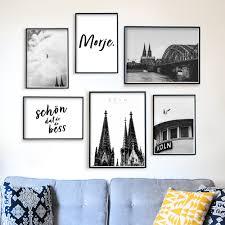 köln bilder 6er poster set für dein wohnzimmer schwarz