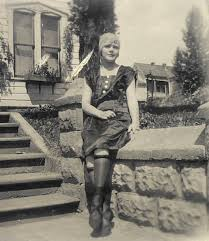 1920s Girl With Rolled Stockings