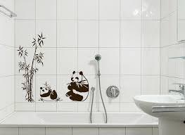 wandtattoo wandsticker wandaufkleber bad panda bär schilf