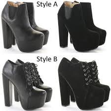 heeled booties high heels block shoes platform chelsea ankle boots
