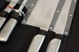 malette couteaux de cuisine professionnel pochette couteaux 12 pieces inox pro schumann coutellerie topkoo