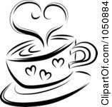 Free Hearts Coffee Cup Clipart 1