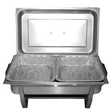 Tiger Chef TigerChef TC 20520 Chafer Pans Set Includes 3 Full Size Aluminum Steam Table 6 Half Foil With Lids