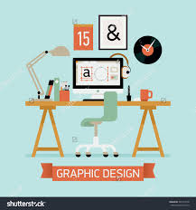 Vector Modern Flat Concept Design On Graphic Designer Workplace Save To A Lightbox Office Lobby
