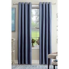 shop allen roth kennerton 84 in blue polyester grommet light