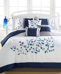 kira navy 7 pc comforter sets created for macy s embroidered