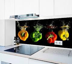 spritzschutz küchenrückwand fliesenspiegel glas nach maß paprika