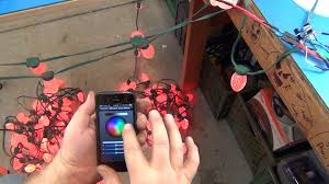 Ge Itwinkle Outdoor Christmas Tree by Iphone Christmas Lights Controller For Ge G 35 Led Lights Youtube