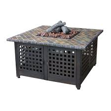 endless summer 41 2 in propane gas pit with slate mantel